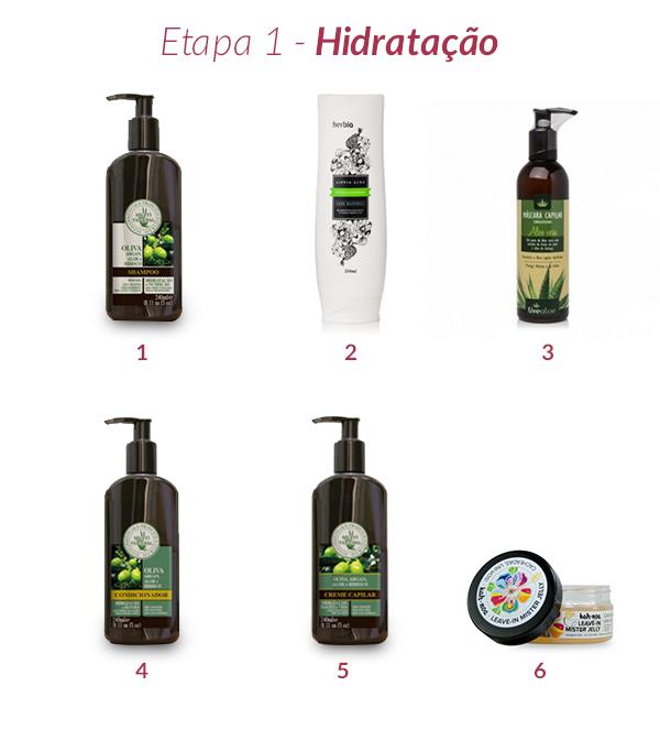 hidratação cabelos crespos e cacheados
