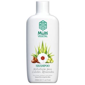 Shampoo Natural e Vegano Multi Vegetal Oliva, Argan, Aloe e Hibisco