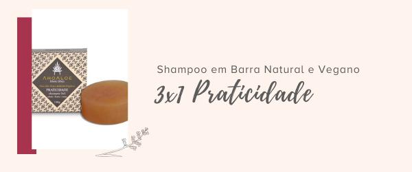 shampoo em barra natural vegano 3em1 praticidade