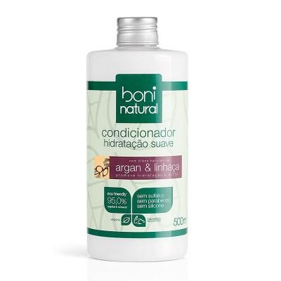 Condicionador Natural e Vegano Argan e Linhaça Boni
