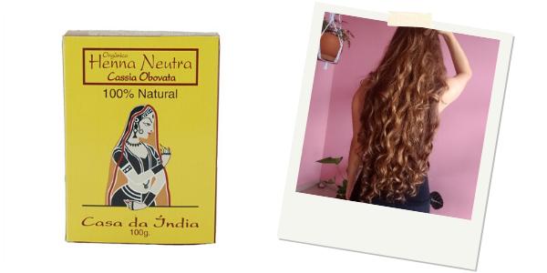 Henna Neutra de Cassia Obovata Natural e Vegana
